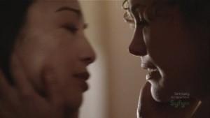 Ming-Na and Reiko Aylesworth, Stargate Universe Lesbian Kiss video