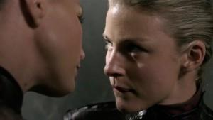 Charisma Carpenter and Tabrett Bethell, Lesbian Kiss