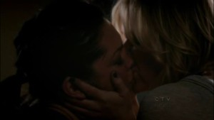 Callie and Arizona, Grey's Anatomy Lesbian Kiss