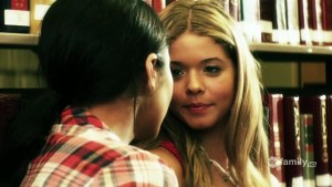 Shay Mitchell and Sasha Pieterse, Lesbian Kiss