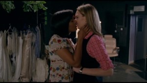 Lesbian Kiss, Anna Torv and Shelley Conn Lesbian Kiss