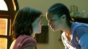 Daisy Betts and Kandyse McClure, Lesbian Kiss