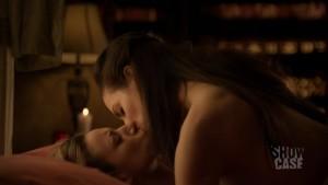 Anna Silk and Zoie Palmer Lesbian Kiss, Lost Girl Lesbian Scene lesmedia
