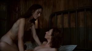 Asun Ortega and Sasha Stuber, Lesbian Kiss Nude Nuns with Big Guns lesmedia