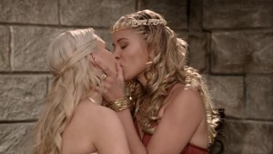 Kristanna Loken and Sophie Monk,  Lesbian Kiss Images National Lampoon's the Legend of Awesomest Maximus