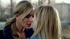 Sarah Stouffer and Allison McAtee,  Lesbian Kiss Bloomington lesmedia