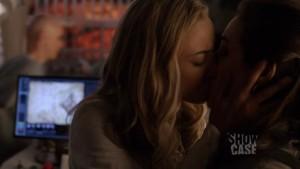 Zoie Palmer and  Anna Silk Lesbian Kiss,  Lost Girl