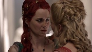 Viva Bianca and Lucy Lawless, 2010 Lesbian Kiss Spartacus Blood and Sand Watch Online lesmedia
