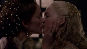 Holliday Grainger and Lotte Verbeek Lesbian Kiss, The Borgias Watch Online lesbian media
