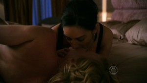 Archie Panjabi and Kelli Giddish, Lesbian Kiss Images from The Good Wife Watch Online lesbian media