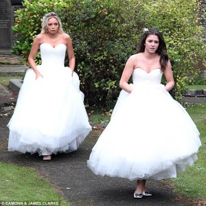 Sian and Sophie wedding dresses, Coronation Street lesbian media
