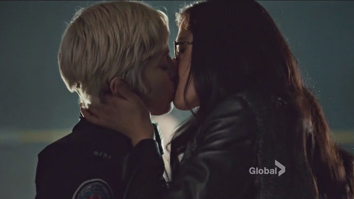 Gail and Holly Lesbian Kiss