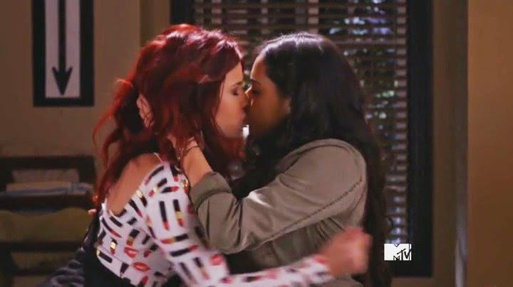 Jillian Rose Reed and Jeanine Mason Lesbian Kiss Awkward
